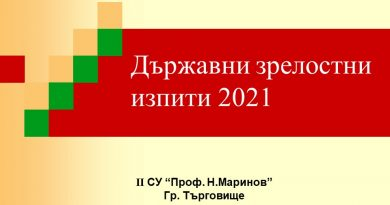 Държавни зрелостни изпити 2021